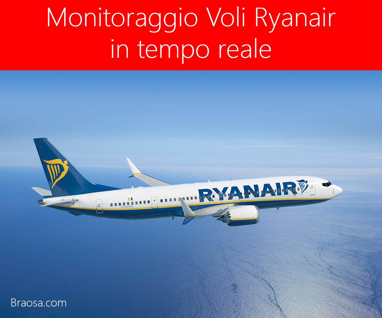Monitoraggio dei voli Ryanair in  tempo reale a Bergamo Orio al serio