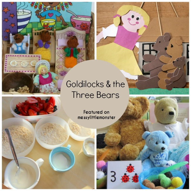 goldilocks and the three bears art craft and activities for preschoolers and toddlers