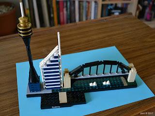 lego architecture sydney - sydney tower