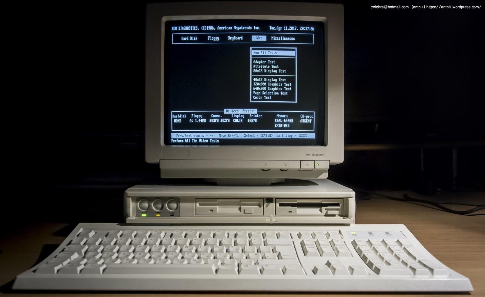 ibm ps 2 55sx antnik retro computer