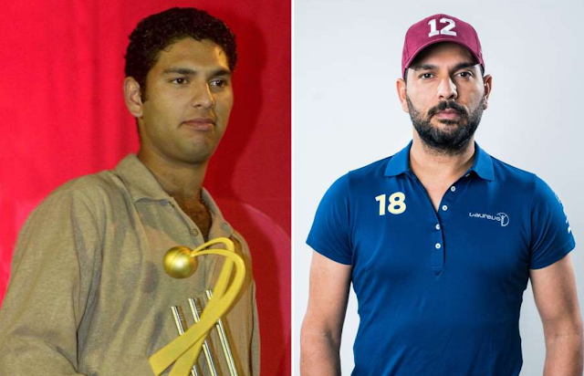 Yuvraj Singh then and now