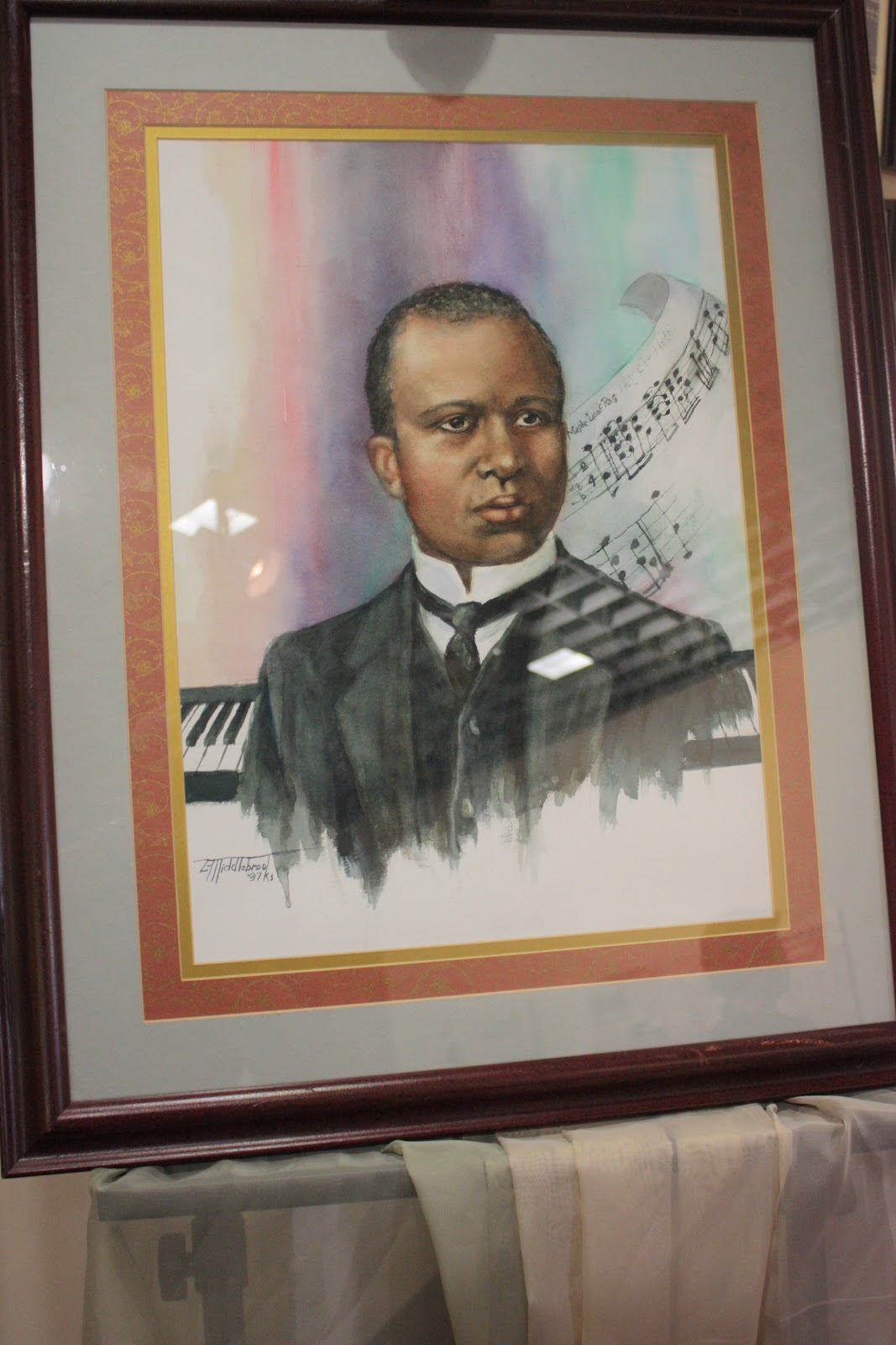 lone star historian city of museums this portrait of scott joplin was painted by luphelia middlebrooks and heads a music display in the museum of regional history