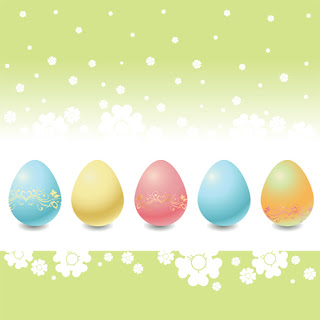 Clipart image of an Easter egg background