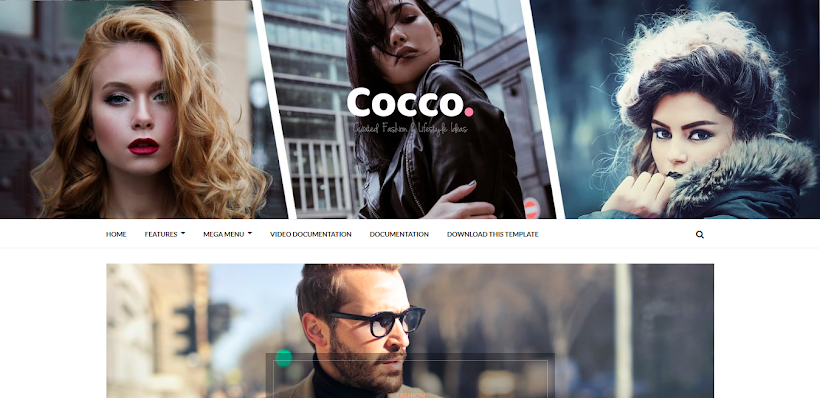Cocco Free Blogger Template