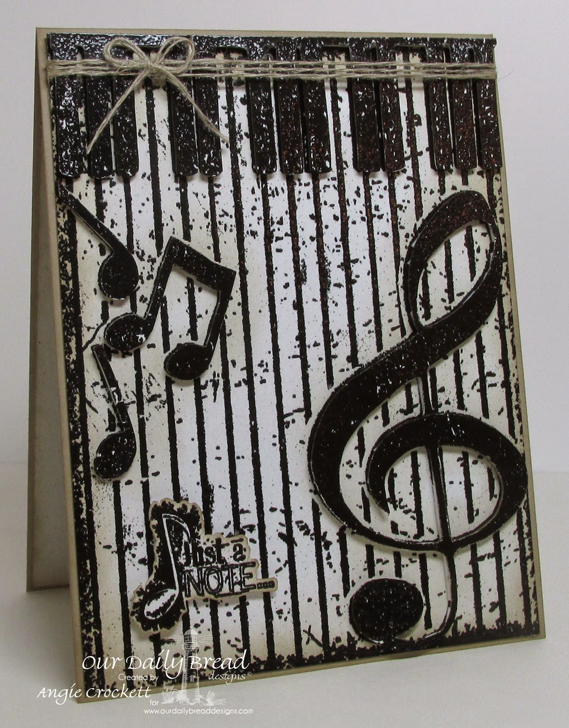 ODBD Grunge Piano Background, ODBD Sing Thy Grace, Card Designer Angie Crockett