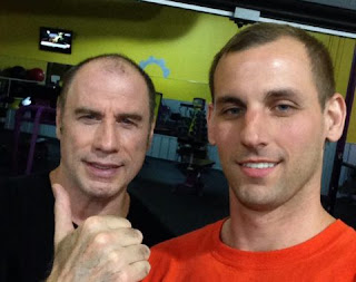 Check out actor John Travolta's new hair