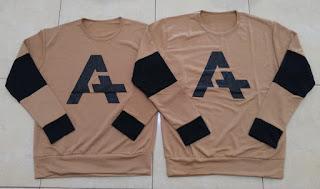 Jual Online Sweater Alpha Neo Mocha Couple Murah Jakarta Bahan Babytery Terbaru