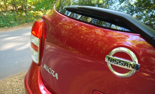 Nissan Micra boot badges
