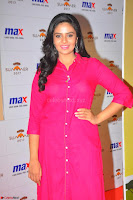 Sree Mukhi in Pink Kurti looks beautiful at Meet and Greet Session at Max Store (1).JPG