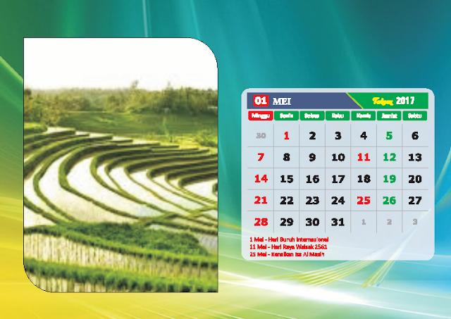 Kalender Bulan Mei 2017