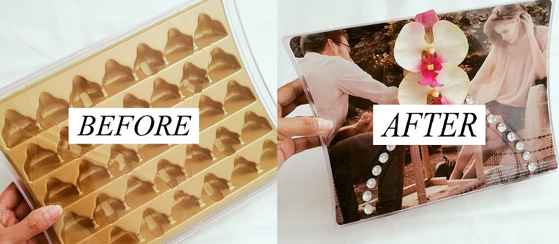 How to Recycle your Empty Chocolate Box into a Chic Clutch