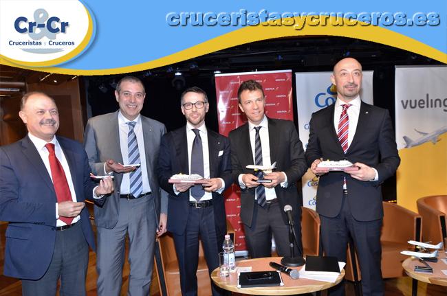 ► Costa Cruceros firma una alianza estratégica a nivel internacional con Vueling
