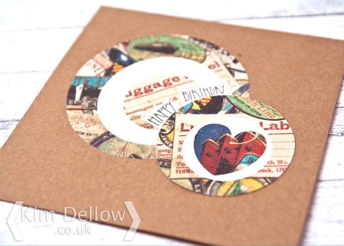 Close up of a simple circle card design