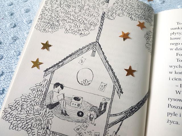 """Michelle Cuevas -  """"Na roześmianym niebie""""  - Nasza Księgarnia - Antoine de Saint-Exupery - """"Mały Książę"""" - Wydawnictwo Greg - książeczki dla dzieci"""