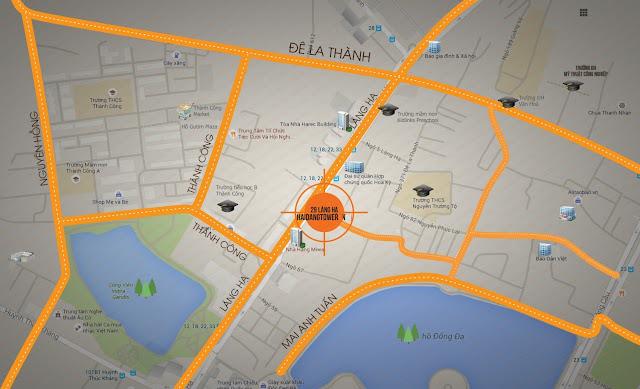 Vị trí đắc địa trung tâm dự án chung cư Mon Central