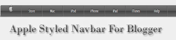 Add apple styled navigation menu bar in blogger