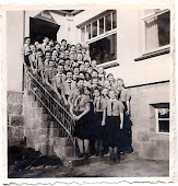 Girls Standing on Steps
