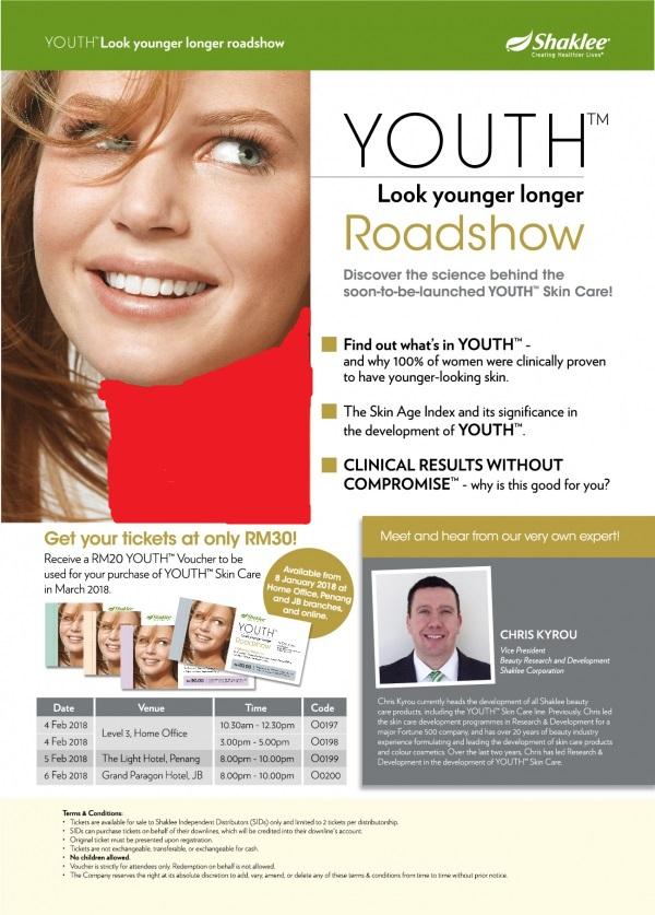 Roadshow Youth Skincare Shaklee