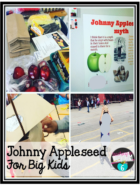 Johnny Appleseed Day in an upper elementary classroom.