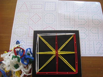 busy bag- geoboard