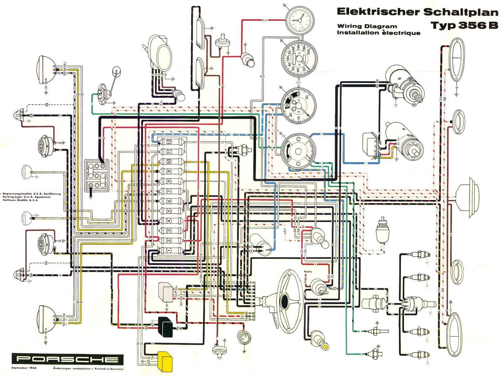 Automobile Wiring Diagrams Automotive Electrical Circuit Diagram And 1987 Porsche 924s Free Auto 356b