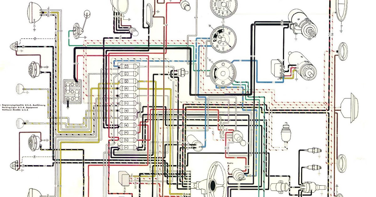 Free Auto Wiring Diagram: Porsche 356B Wiring Diagram