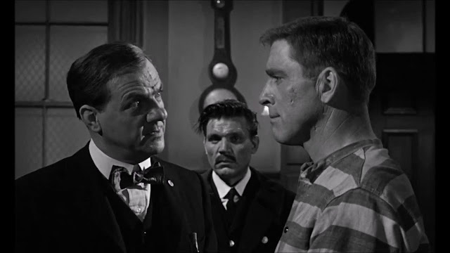 Karl Malden, Neville Brand and Burt Lancaster in Birdman of Alcatraz