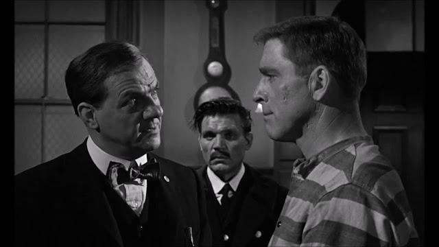 Karl Malden, Neville Brand and Burt Lancaster in Birdman of Alcatraz