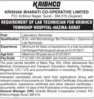KRIBHCO Recruitment
