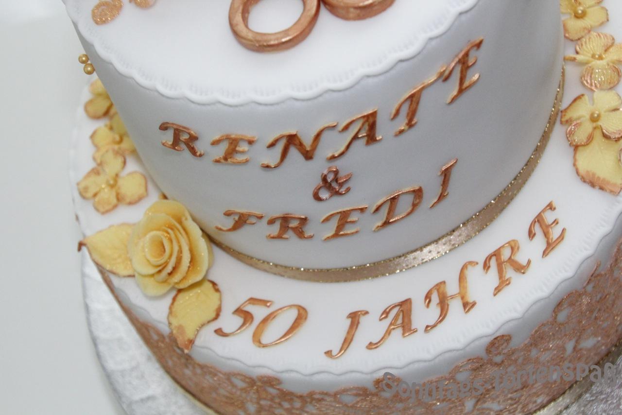 Immer Wieder Sonntags Goldene Hochzeitstorte