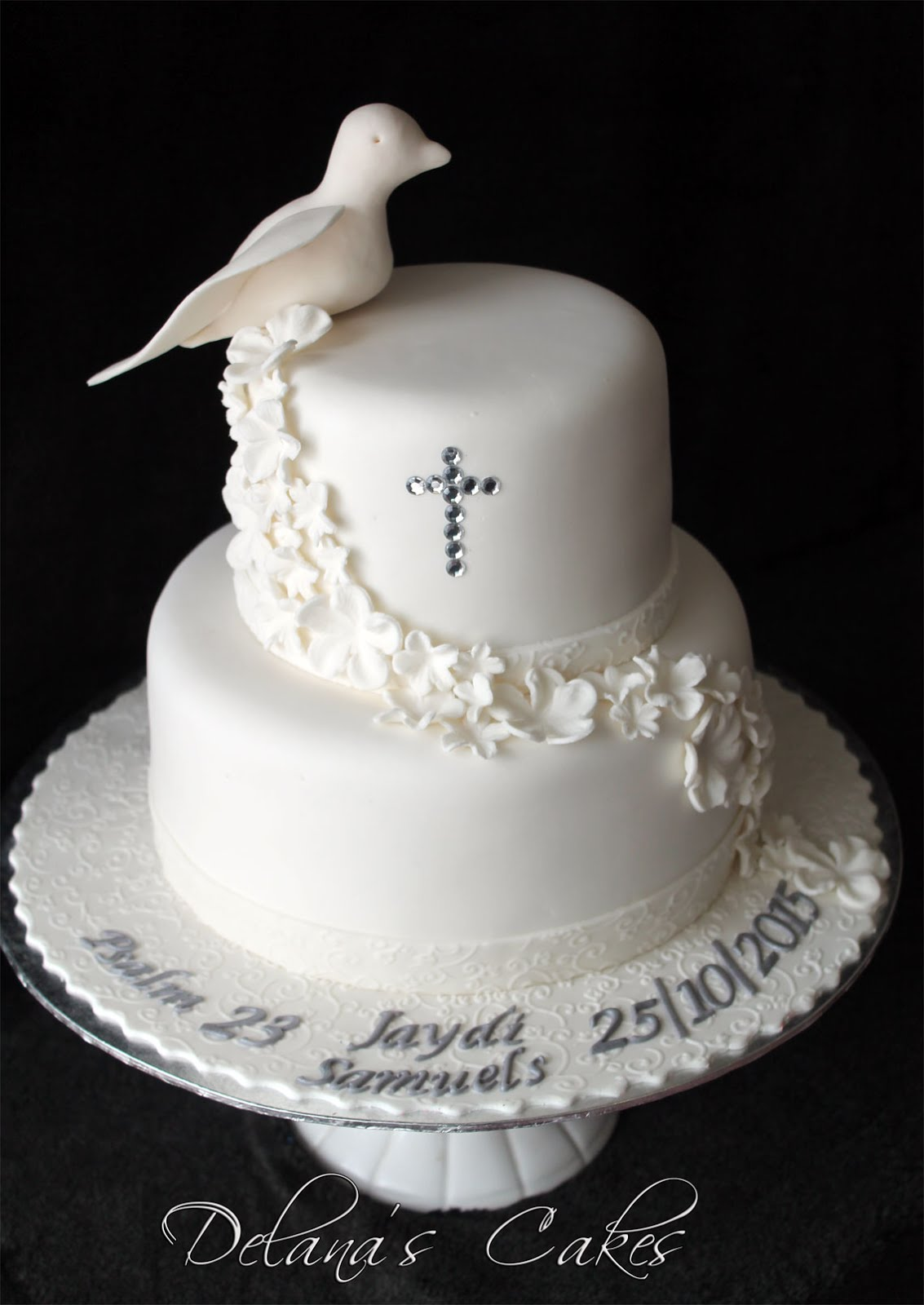 Delana S Cakes Dove Confirmation Cake