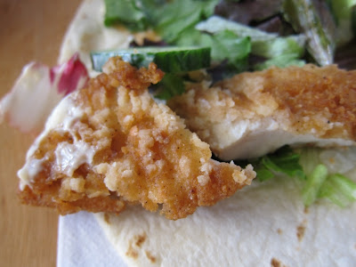 McDonald's new Sweet Chili Crispy Chicken McWrap Close Up