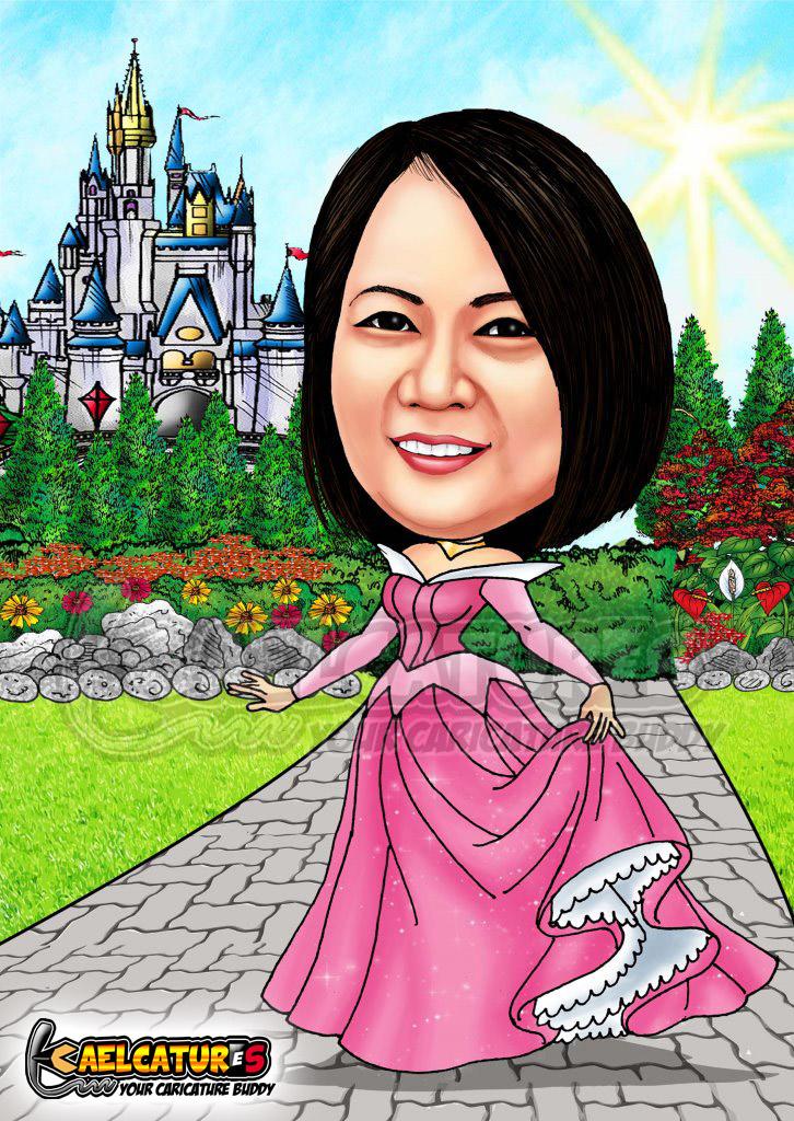 Kaelcatures Disney Princesses Caricature
