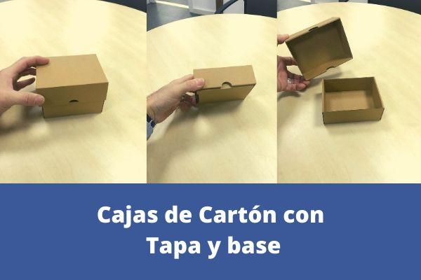 cajas de carton con tapa en dos piezas