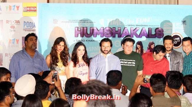 Promotion of Movie Humshakals in New Delhi, Esha Gupta, Tamanna Promote Humshakals in New delhi