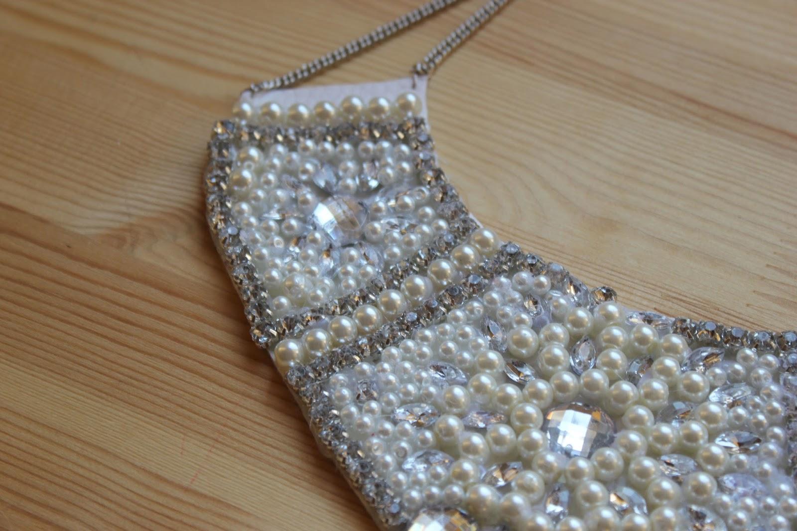 eec5fce4bedb EL RESULTADO. DIY Collar de perlas y piedras Swarovski