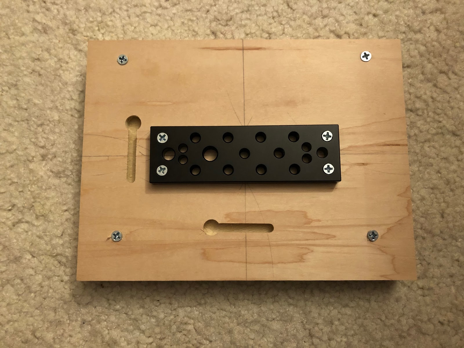 underside of art board with DIY mounting hardware