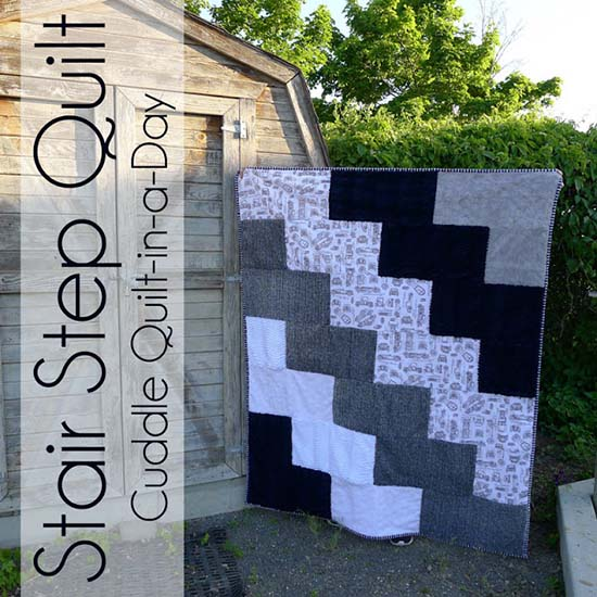 Stair Step Quilt from Pieces by Polly