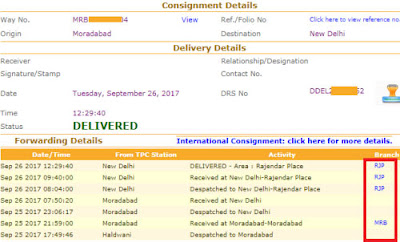 track professional courier with awb no