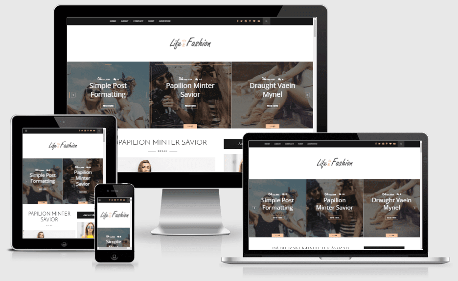 Download Life-Fashion Clean and Responsive Blogger Theme