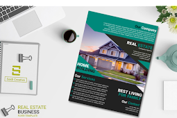 Real Estate Business Flyer Template Free Download on EPS File