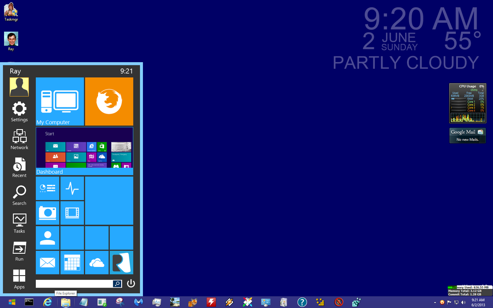 Ray U0026 39 S Blogging Again  Windows 8 Start Menu Reviver