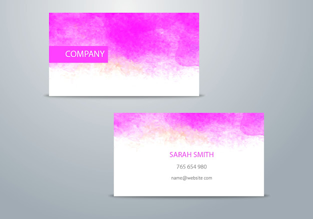 Watercolor Business Card Template Vector Graphic  Watercolor Business Card  Business Card Template Business