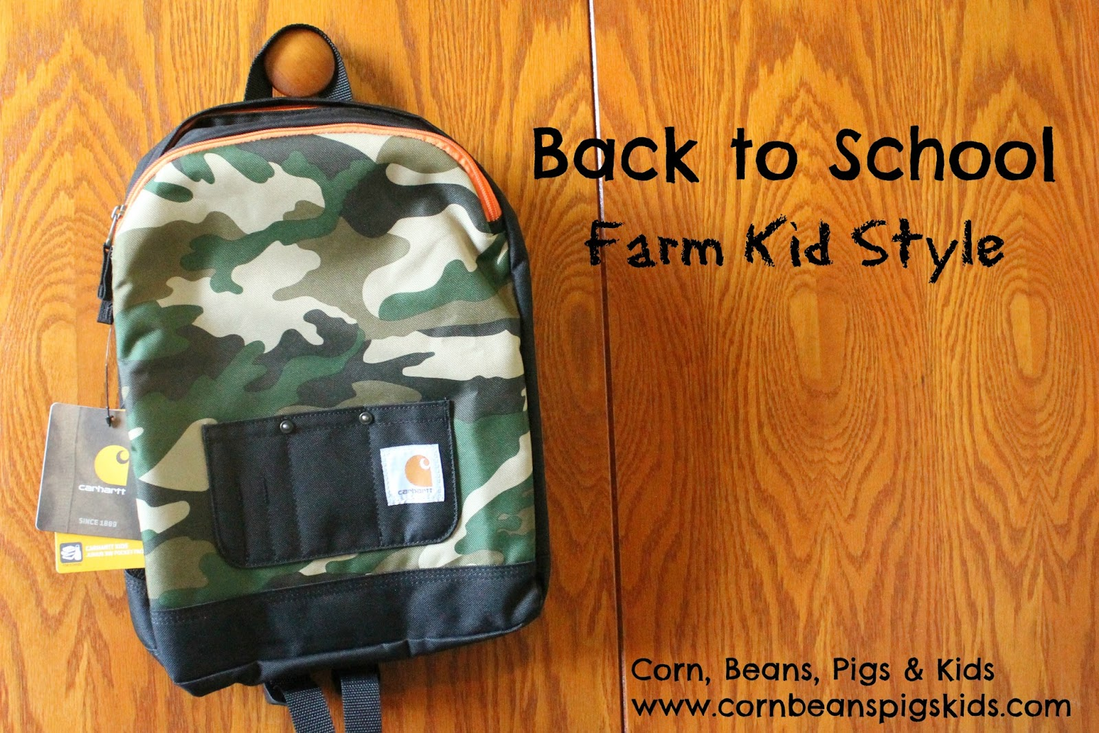 a402a73690 Corn, Beans, Pigs and Kids: Back to School Farm Kid Style with Carhartt