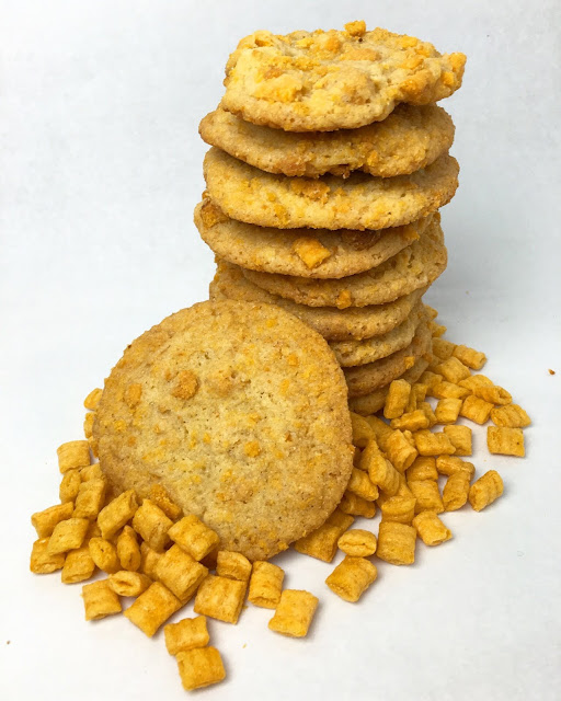 Stack of Cap'n Crunch Corn Meal Cookies