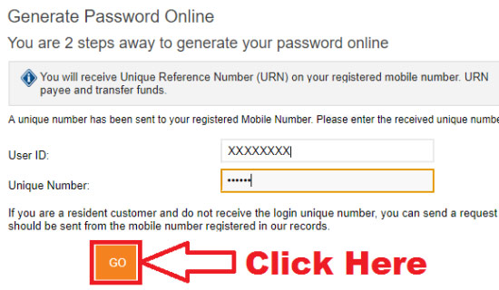 icici net banking generate password online