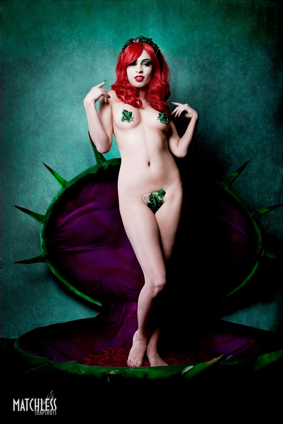 Poison Ivy costume by Flo Foxworthy Model