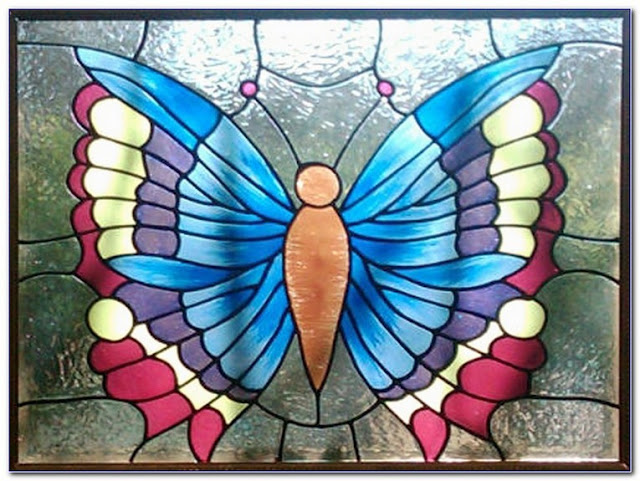 Best Stained GLASS WINDOW Butterfly Pattern for sale