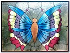 Stained GLASS WINDOW Butterfly Pattern