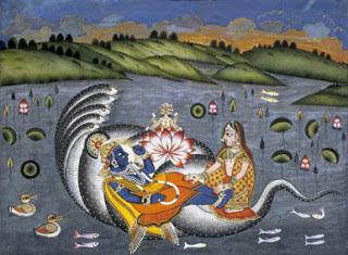Il riposo di Visnu, mitologia indiana, Yoga e Mitologia, KeYoga, Laura Voltolina